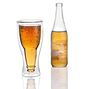 Lily's Home® Upside Down Beer Glass, Double Wall Beer Glass.