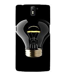 PrintVisa Bulb Light Design 3D Hard Polycarbonate Designer Back Case Cover for One Plus One