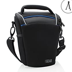 USA Gear Top Loading Digital SLR Camera Case Bag- Works with Canon EOS Rebel SL1 , T5i , T4i , T3i , T3 ( 70D , 100D , 600D , 650D , 700D , 1100D ) with 18-135mm Lens , 18-55mm Lens & Many More Compact DSLR Cameras!