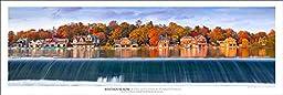 Award Winning Landscape Panoramic Art Print Poster: Boathouse Row | Philadelphia | Pennsylvania | New Release 2015