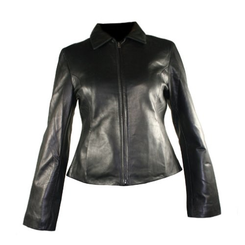 Buy Women's Black Lambskin Leather Fashion Jacket