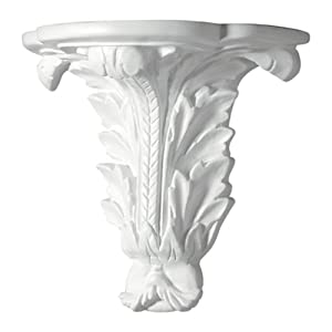 Focal Point 93220 Acanthus Corbel 9 11/16-Inch by 8 15/16-Inch by 5 1/4-Inch, Primed White