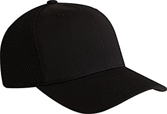 6533 Flexfit Ultrafibre Tactel and Mesh Cap - Small/Medium (Black)