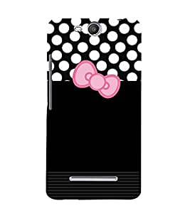 Black Dot Cute Design Cute Fashion 3D Hard Polycarbonate Designer Back Case Cover for Micromax Bolt Q338