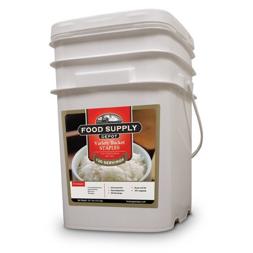 Food For Health International Emergency Survival Staples Variety Interlocking Bucket Contains Rice And Beans