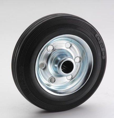 Vollgummi-Rad 80x25x12mm,Rola, Nabe 40 mm, Stahlfelge