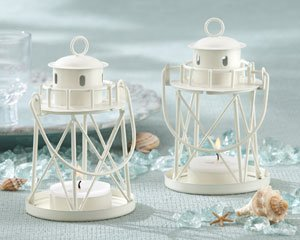 """By The Sea"" Lighthouse Tea Light Holder - Set Of 25"