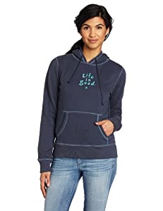 Life is Good Women's LIG Softwash Hoodie (True Blue, X-Large)