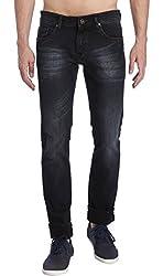 Erdferkel&Wobbegong Men's Jeans (CARINA05--28, Black, 28)