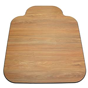 Laminate Chair Mat-Oak-36x44 with Single Lip