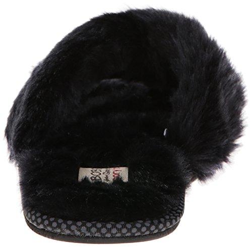 BOBS from Skechers Women's Primpers Flip Flop,Black/Black,8 M US