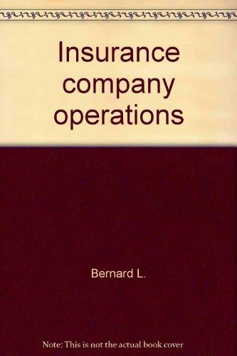 Insurance Company Operations (2 Volumes)