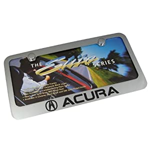 Prime Acura on Amazon Com  Acura Chrome Brass License Plate Frame  Automotive