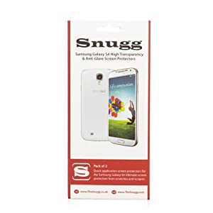 Snugg Galaxy S4 High Transparency Screen Protectors (pack of 2) - Includes Microfiber Cloth and Anti Bubble Leveler