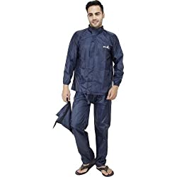 FABLOOK Raincoat cargo XXXL for men blue colour big size L33 X W 29
