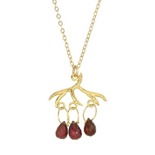 Misha Branch Style Necklace in Garnet