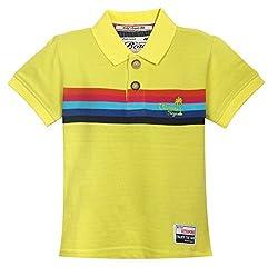 Vitamins Baby Boys' T-Shirt (08Tb-697-1-M.Green_Light Green_1 - 2 Years)