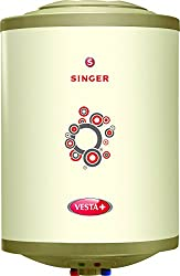 Singer Vesta Plus 2000 Watts Glass Line Storage Water Heater 15 Litre