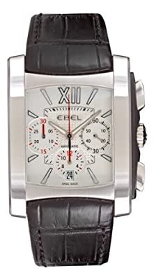 Ebel Men's 9126M52/64BR351 Brasilia Silver Chronograph Dial Watch by Ebel
