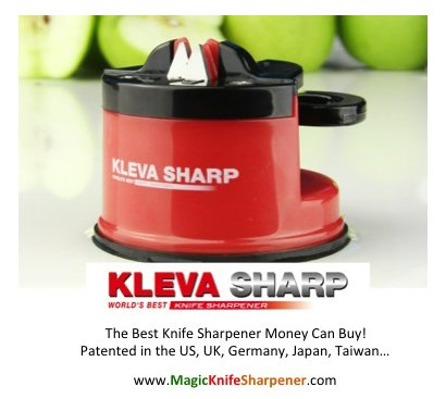 Kleva Sharp, World's Best Knife Sharpener (Countertop Knife Sharpener compare prices)