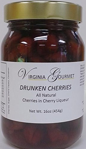 Cherries All Natural Drunken Cherries - 2 PACK Cherries in Cherry Liquor ( 2 pounds total )