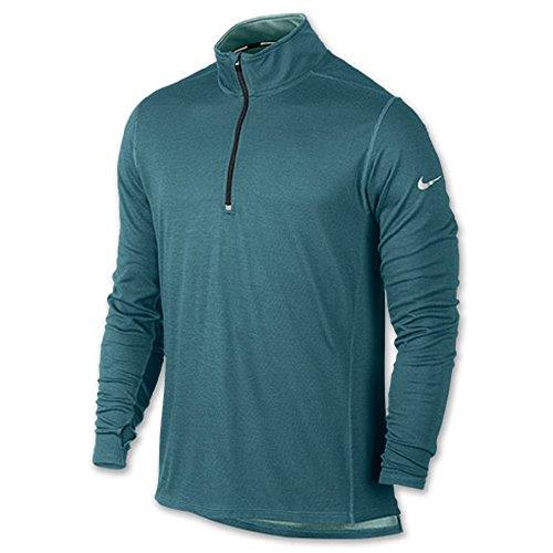 Nike Mens Dri-FIT Wool 1/2 Zip Running Shirt 746786 (Medium, Dark Magnet Grey)