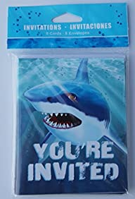 Cool Shark Week Birthday Party Invita…
