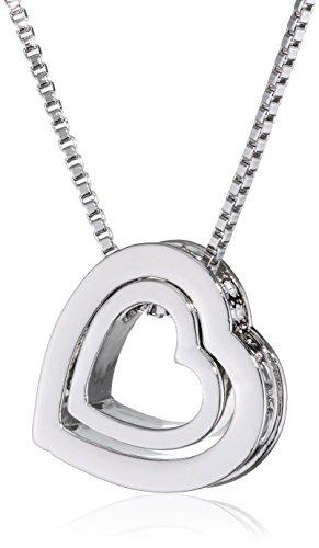 MARENJA-Kristall-Damen-Kette-mit-Herz-Anhnger-und-Gravur-Ich-liebe-Dich-Doppelherz-Weigold-Vergoldet-Kristall-Klar-405cm