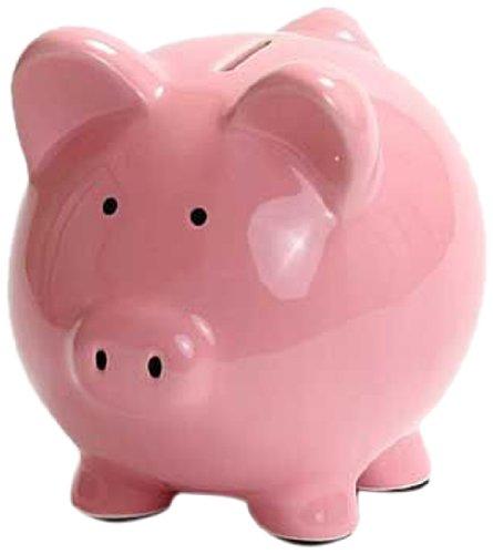 Kangaroo 1003  Ceramic Piggy Bank, 6-Inch, Pink - 1