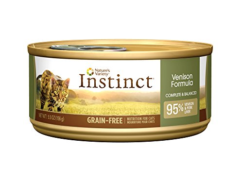 Instinct Grain-Free Venison Canned Cat Food by Nature's Variety 5.5 oz Cans (Case of 12) (Yes Parent Omegas compare prices)