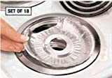 DISPOSABLE FOIL BURNER LINERS - ELECTRIC STOVES SET OF 18