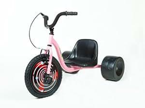 Bike Rassine Hill Kicker Junior Street Trike (16-Inch), Pink, 44x27x32-Inch