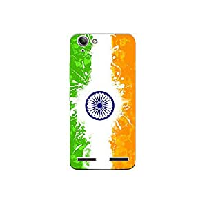 lenovo k5 plus nkt09 (20) Mobile Case by Mott2 - Indian Flag Paint (Limited Time Offers,Please Check the Details Below)