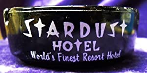 Classic Black Glass Ashtray from the Stardust Hotel/Casino