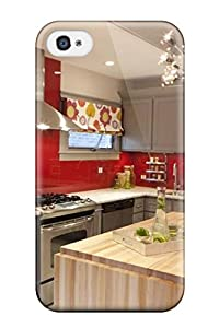 premium protection gray cabinetry with red backsplash in
