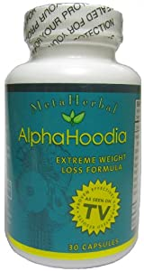 Alpha Hoodia Best Diet Pill With Green Tea Bitter Orange Guarana More For Weight Loss - Fat Burner Weight Control - 1 Bottle from Metaherbal Labs