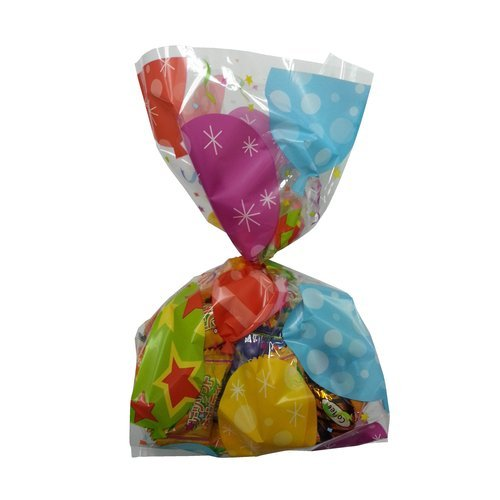 Party Balloon Treat Bags with Twist Ties - 1