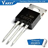 HATOLY 10pcs 2SC2073 TO220 C2073 TO-220 TO-22 KSC2073 1.5A 150V Power triode Hot Sale