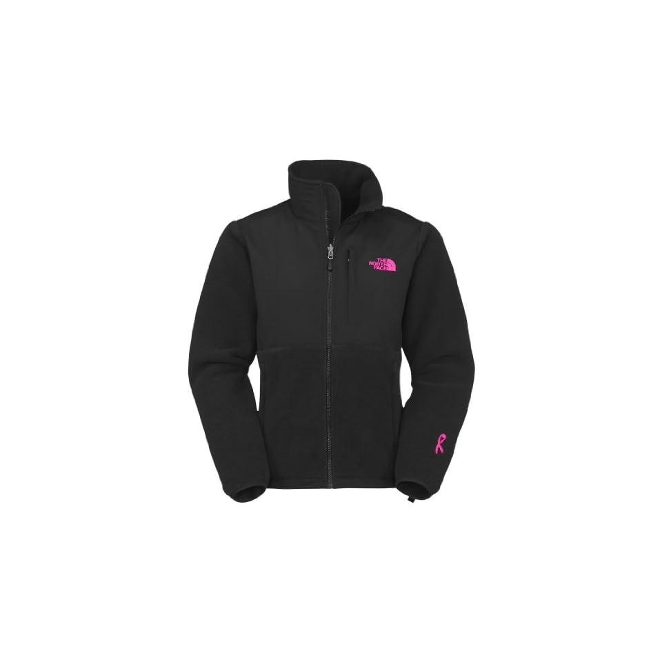 4ba300253802 Womens The North Face Pink Ribbon Denali Jacket Recycled TNF Black Size X  Large