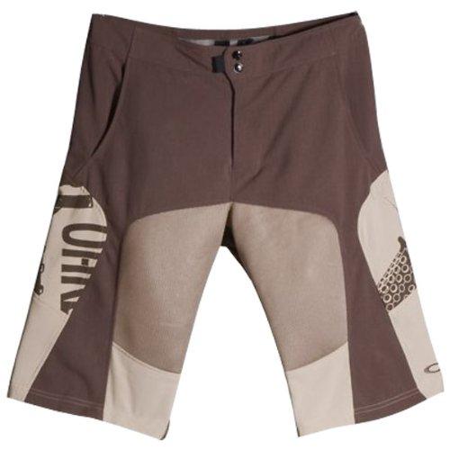 Oakley Ballistic Men's MTB Short Mountain Bike Pants w/ Free B&F Heart Sticker - Earth Brown / Size W32