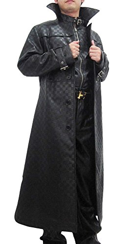 Fancy Super Villains Cosplay Costume Outfits Suit for Men's Halloween Black