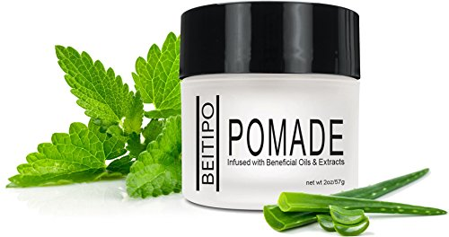 Styling Pomade Hair Care Products for Men and Women - Salon Quality Products with Pliable Hold and Shine Infused with Peppermint, Ginseng, and (Black Men With Pompadour)