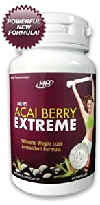 Acai Berry Extreme - Powerful Formula All-in-one Weight Loss Colon Cleanse Antioxidant Appetite Suppressant Metabolism Booster Diet Pill Formula by HH Nutritionals