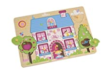 ELC WOODEN COTTAGE LIFT OUT PUZZLE FOR 2+ AGE