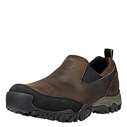 Timberland Men\'s MT Abram Slip-On Walking Shoe, Dark Brown, 7.5 M US