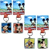 DDI - Disney Mickey Large Lucite Foil Keychain 4 Styles (1 pack of 72 items)