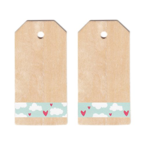 Dress My Cupcake Classic Wooden Gift And Favors Tags Diy Kit, Valentines Day Love Clouds front-10758