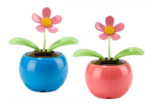 Bee Happy Dancing Solar Flower, Set of 2 by efuture - 1