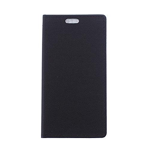 Voguecase® Per Alcatel One Touch Pop 3 5.0(sabbia negro) Elegante borsa in pelle sintetica Ecopelle PU Custodia Case Cover Protezione chiusura ventosa Con Stilo Penna