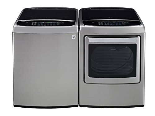 LG POWER PAIR SPECIAL-Mega Capacity High Efficiency Top Load Laundry System with Innovative Easy Load Dryer*Graphite Steel*WT1801HVA_DLEY1701VE) (Top Loading Washing Machines compare prices)